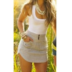 Two tone 1 piece curved skirt (runs small)